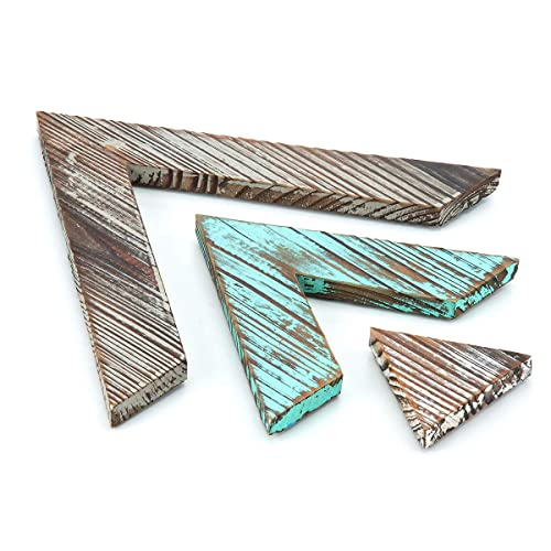 Buy J Jackcube Design Rustic Wood Chevron Arrows Farmhouse Wall Décor Triangle Shaped Boho Style Hanging Vintage Art Signs Set Of 3 For Home Mk540a Online In Mauritius B07xds3vtr