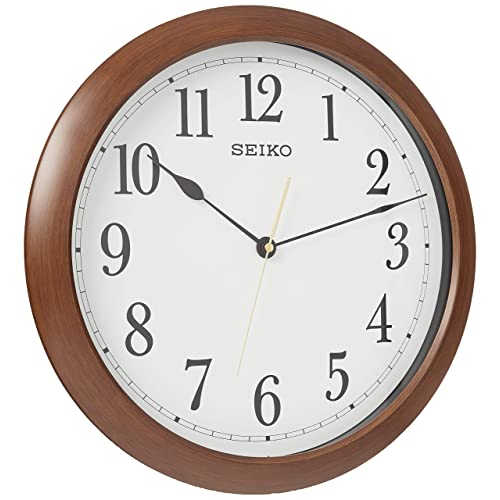 Buy Seiko 16 Numbered Wood Finish Wall Clock Online In Mauritius B07xr29rmp