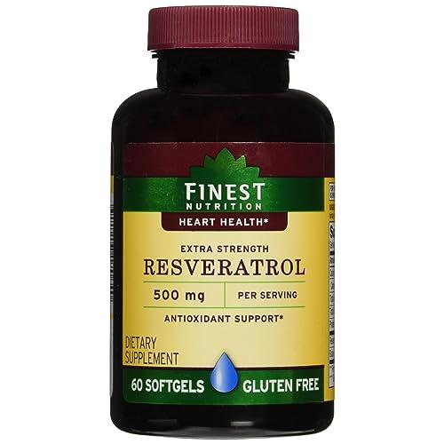Finest Nutrition Resveratrol 500mg Extra Strength Softgels 60 Ea