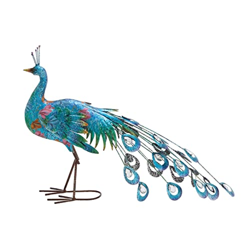 Buy Deco 79 Metal Peacock Sculpture 31 Inch By 20 Inch Online In Mauritius B00tqulevy