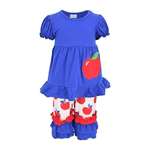 Unique Baby Girls Back to Grade School 2pc Capri Apple Boutique Outfit
