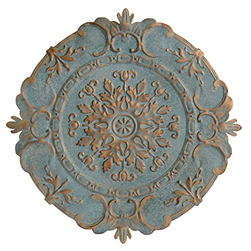 Buy Stratton Home Decor Blue European Medallion Wall Decor 30 50 W X 0 50 D X 30 50 H Online In Mauritius B076z7fv6b