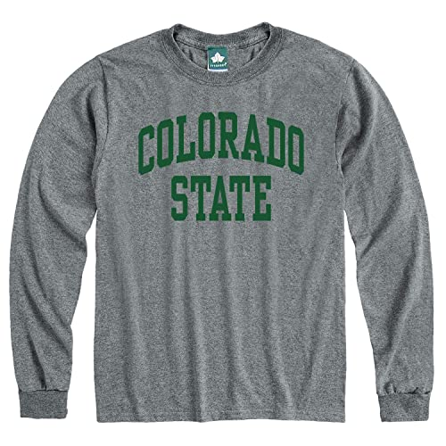 Grey Heritage Logo NCAA Colleges and Universities Ivysport Long Sleeve Cotton Adult T-Shirt