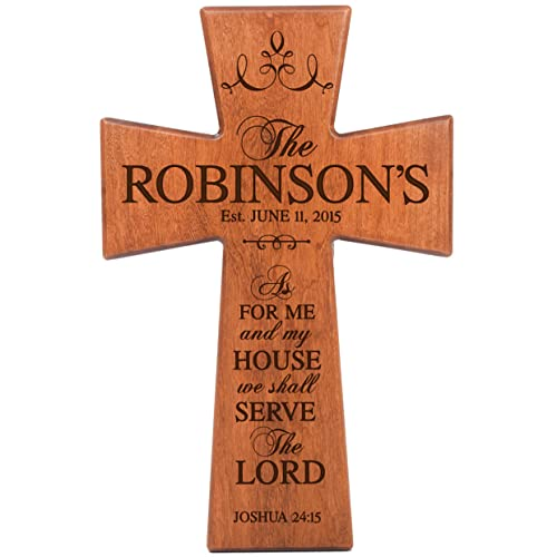 Buy Lifesong Milestones As For Me And My House Cherry Wood Wall Cross Personalized Housewarming Gift Online In Mauritius B079td79k7