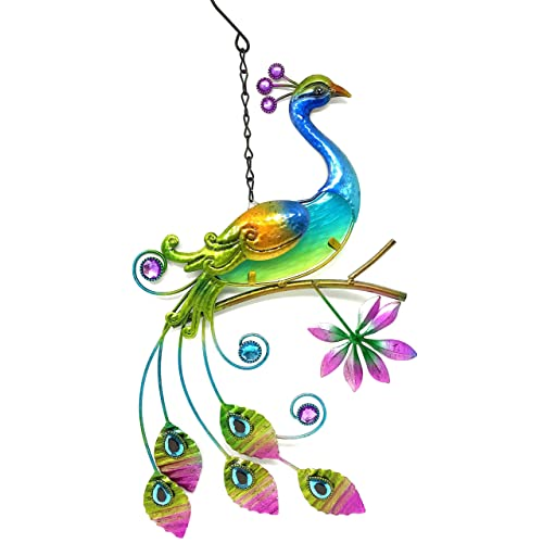 Buy Bejeweled Display Peacock Wglass Wall Art Plaque Home Decor Online In Mauritius B00ohabr6u