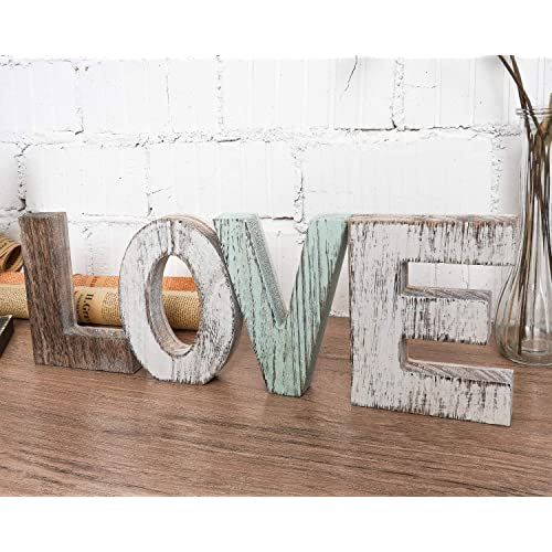 Buy Timeyard Wood Love Signs Wall Decor Wooden Blocks Rustic Letters Cutout Farmhouse Home Table Centerpiece Decor Multicolor Freestanding With Double Sided Foam Tape Gift For Valentine Thanksgiving Online In Mauritius B07x2qx1xc