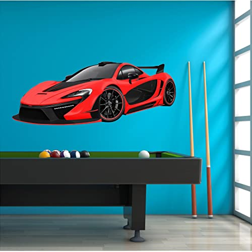 Buy 48 Mclaren P1 Red Wall Decal Sticker Huge Graphic Sports Car Hybrid Boys Bedroom Decor Removable Vinyl Mural Man Cave Online In Mauritius B01mazeu6h