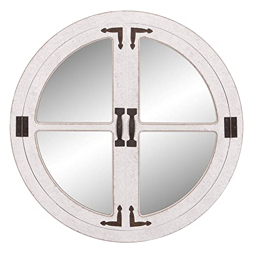 Buy Patton Wall Decor 28 White Wash Round Window Accent Wall Mounted Mirrors Online In Mauritius B07nx858z8