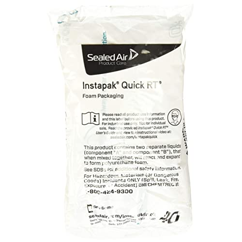 #80, 22-Inch x 27-Inch, Case of 72 Instapak Quick Room Temperature Expanding Foam Packaging Bag