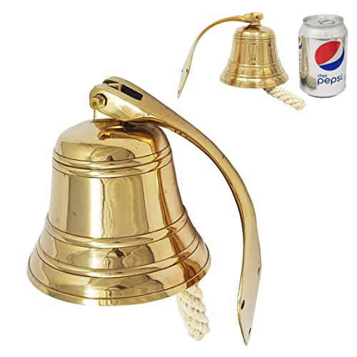 Brass Nautical 4 Inches Brass Ship Bell Polished Nautical Hanging With Wall Mount Large Decor Outdoor Replica Bell Buy Products Online With Ubuy Mauritius In Affordable Prices B077j188tx
