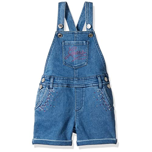 GUESS Girls Little BLINGED Out Denim Overalls