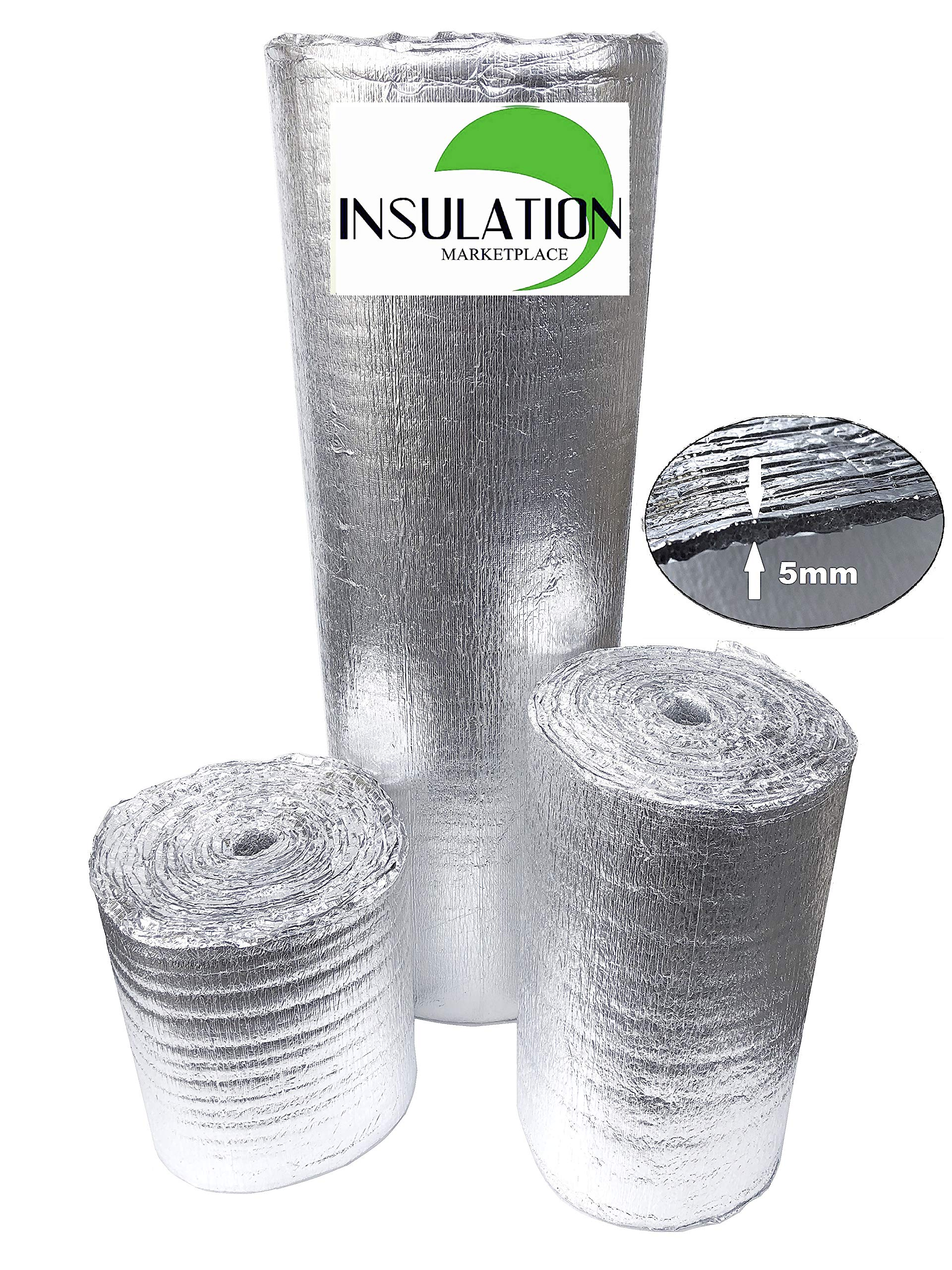 "SmartSHIELD Foam Core Radiant Barrier. 3mm 24/""x50Ft Reflective Insulation roll"