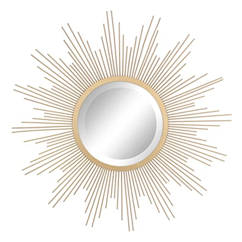 Buy Stonebriar Round Decorative Antique Gold 24 Metal Starburst Hanging Mirror For Wall Modern Boho Decor For The Living Room Bathroom Bedroom And Entryway Online In Mauritius B07c3bchb1