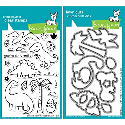 Stamp Includes One Each of LF564 Die /& LF574 - Custom Set Lawn Fawn Trim The Tree Clear Stamp and Die Set