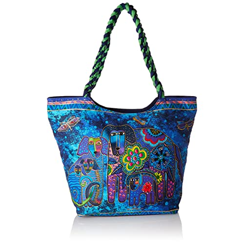 16 by 10-Inch Once in a Blue Moon Laurel Burch Crossbody Bag
