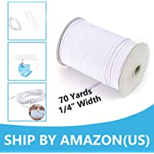 Plankroad Home Outlet PLK-01-012 Ship from USA 175 Yards 1//4 Elastic Cord White