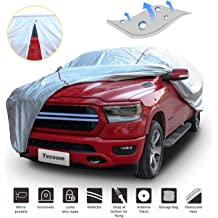 Tecoom Thick Shell Super Breathable-Waterproof Windproof Snow Sun Rain UV Protective Outdoor All Weather SUV Cover Fit 160-172 inches Hatchback