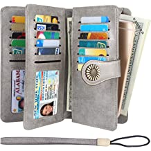 Ethiopia Flag Puzzle Womens RFID Blocking Zip Around Wallet Genuine Leather Clutch Long Card Holder Organizer Wallets Large Travel Purse